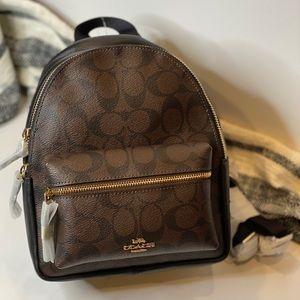 🎒COACH (NWT) Mini Charlie Backpack.